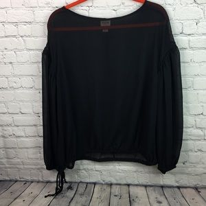 Mossimo supply company sheer blouse size XXL